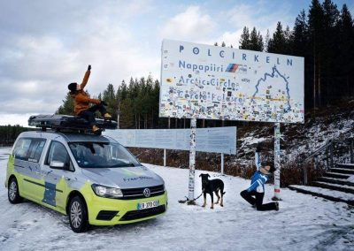 road trip van pole nord
